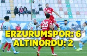 Büyükşehir Belediye Erzurumspor: 6 - Altınordu: 2