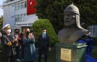 DEÜ'de Çaka Bey büstü törenle açıldı