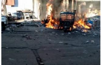 İdlib'de pazar yerine saldırı!
