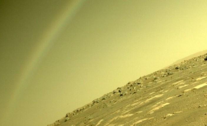 """NASA: """"Mars'ta gökkuşağı oluşması mümkün değil"""""""