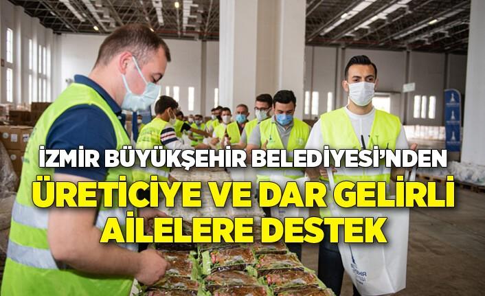 İzmir Büyükşehir Belediyesi hem üreticiye hem dar gelirli ailelere destek oluyor