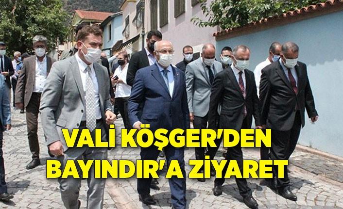 Vali Köşger'den Bayındır'a ziyaret