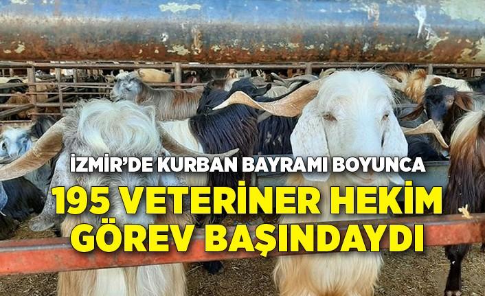 Kurban Bayramı boyunca 195 veteriner hekim görev başındaydı