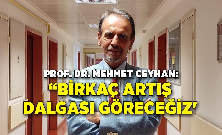 Prof. Dr. Mehmet Ceyhan: 'Salgın son bulana kadar birkaç artış dalgası göreceğiz'