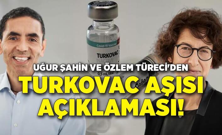 Uğur Şahin ve Özlem Türeci'den Turkovac aşısı açıklaması!