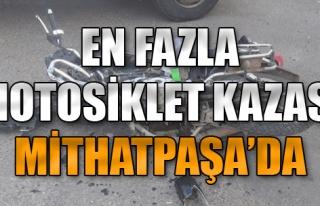 En Fazla Motosiklet Kazası Mithatpaşa'da