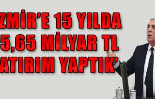 Kalkan'dan İzmir'e yatırım vurgusu
