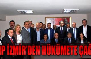 CHP İzmir'den Hükümete Çağrı