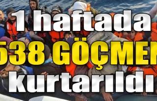 1 Haftada 538 Göçmen Kurtarıldı