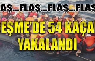 Çeşme'de 54 Kaçak Yakalandı