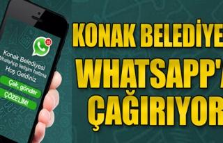 Konak Belediyesi, Whatsapp'a çağırıyor