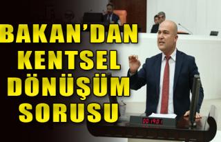 CHP'li Bakan Soru Önergesi Verdi