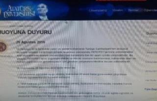 Atatürk Ünivresitesi'nden Fetö Açıklaması