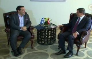 Davutoğlu,Çipras'ı Kabul Etti