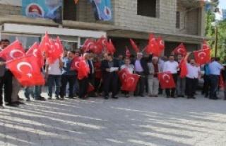 Başkale'de Darbe Protestosu