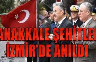 Çanakkale Şehitleri İzmir'de anıldı