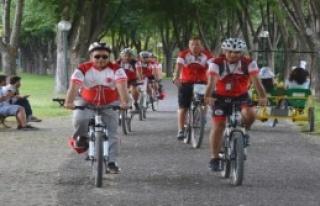 Bursa'da Bisikletli 112 Acil Servis Ekibi