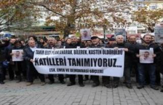 Eskişehir'de Tahir Elçi Eylemi