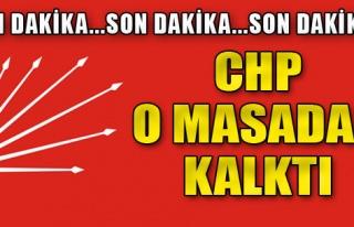 CHP Komisyondan Çekildi