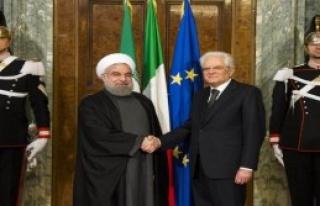İran Cumhurbaşkanı Ruhani İtalya'da