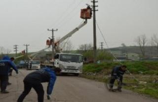 55 evin bağlantıları kesildi