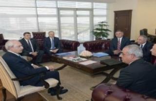 Kılıçdaroğlu, DSP Heyetini Ağırladı