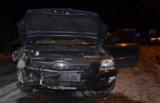 Otomobille Cip Çarpıştı: 5 Yaralı