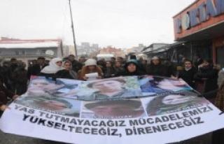 Hakkari'de Protesto Edildi