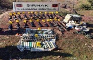 Şırnak'ta Pkk Silahları Ele Geçirildi